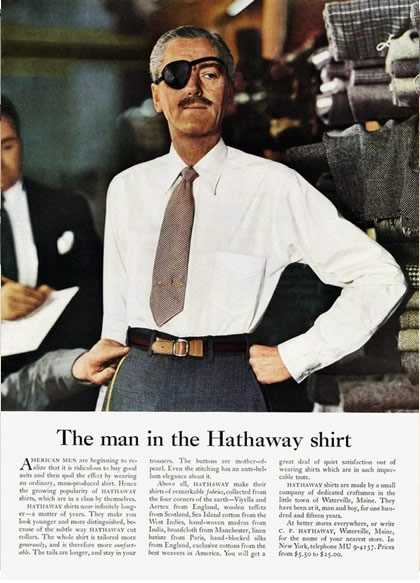 Image - Hathaway Shirt - Long copy ad