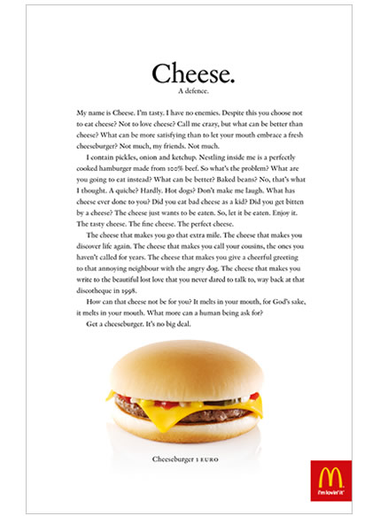 Image - Mc Donnalds - Long copy ad